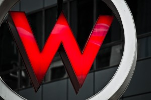 W Hotel sign - Times Square - New York City