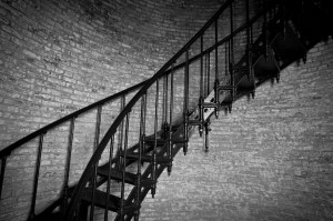A section of staircase inside the Currituck Lighthouse - Corolla, North Carolina (Outer Banks)
