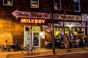 Milkboy Bar and Restaurant at 11th and Chestnut, Philadelphia, PA