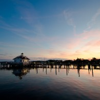 Fine Art - Roanoke Marshes Lighthouse At Dusk