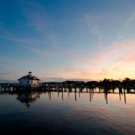 Fine Art - Roanoke Marshes Lighthouse At Dusk