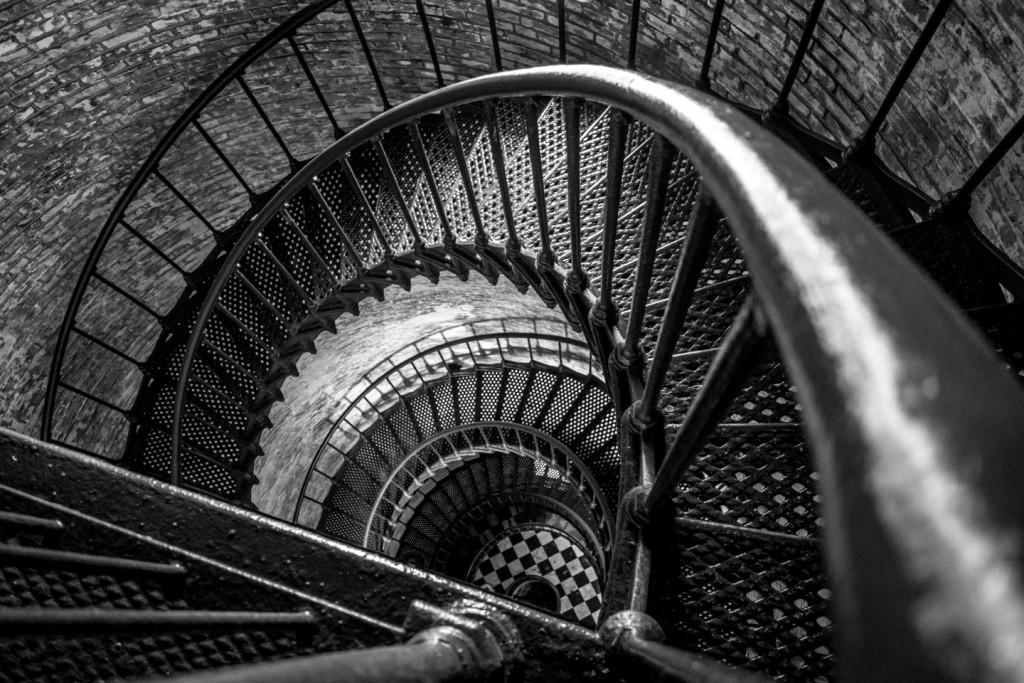 The winding staircase of the Currituck Lighthouse - Corolla, North Carolina (Outer Banks)